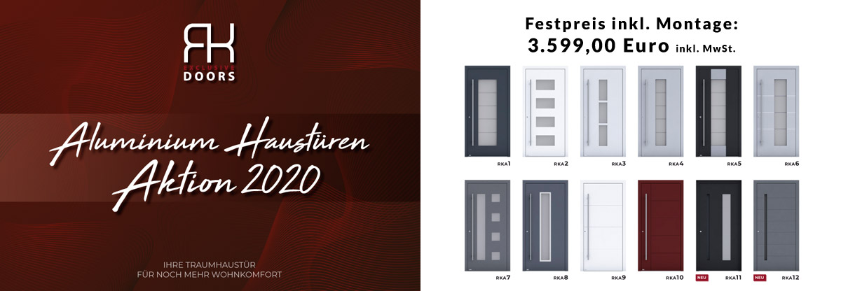Aluminium-Haustüren-Aktion 2020